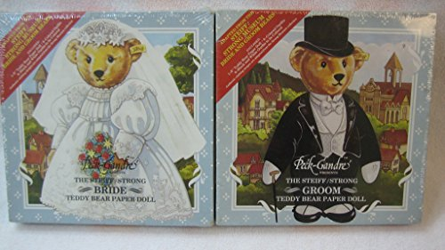 The Steiff/Strong Bride and Groom Teddy Bear Paper Dolls - Set of Two from Peck-Gandre