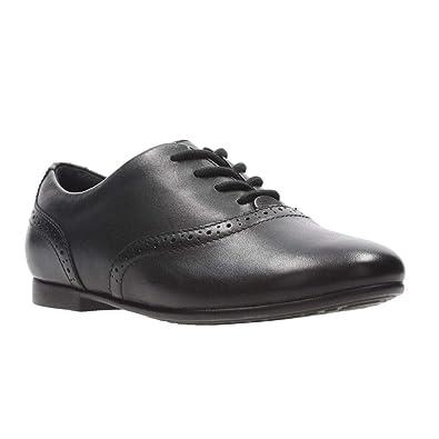 3334d51e70a Clark s Jules Walk Black Leather Girls Lace Up School Shoes (G) - 26134683   Amazon.co.uk  Shoes   Bags
