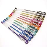 Polaroid Colorful Metallic Gel Pens For 2x3 Photo Paper Projects (Snap, Zip, Z2300) - Pack of 12