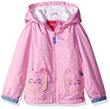 London Fog Baby Toddler Girls' Midweight Kitty Ears Jacket, Pink, 3T