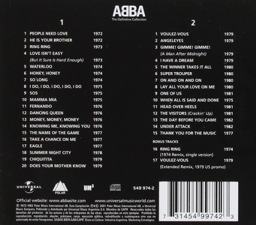 Original album cover of The Definitive Collection [2 CD] by ABBA
