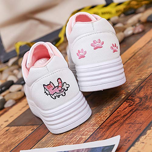 Blue Cartoon Donna Willsky Del Cute Versione Spesso White Da Casual Fondo Ricamo 37 Shoes Student Coreana Pink Sports Pink Scarpe Flat Pink Seasons Four Fashion wFqYqEx1A