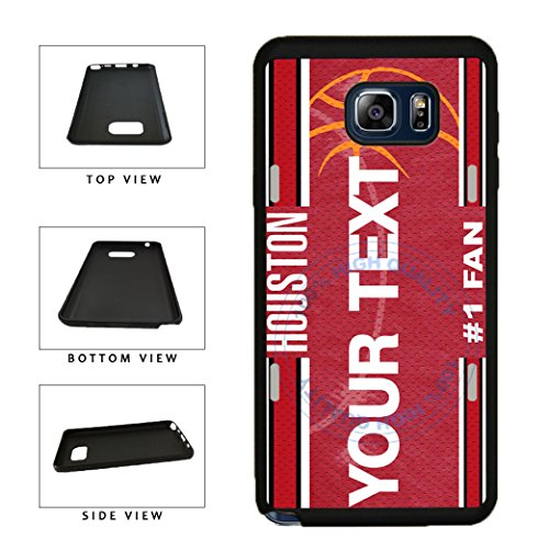 BleuReign(TM) Personalized Basketball Houston License Plate TPU RUBBER SILICONE Phone Case Back Cover For Samsung Galaxy Note 8