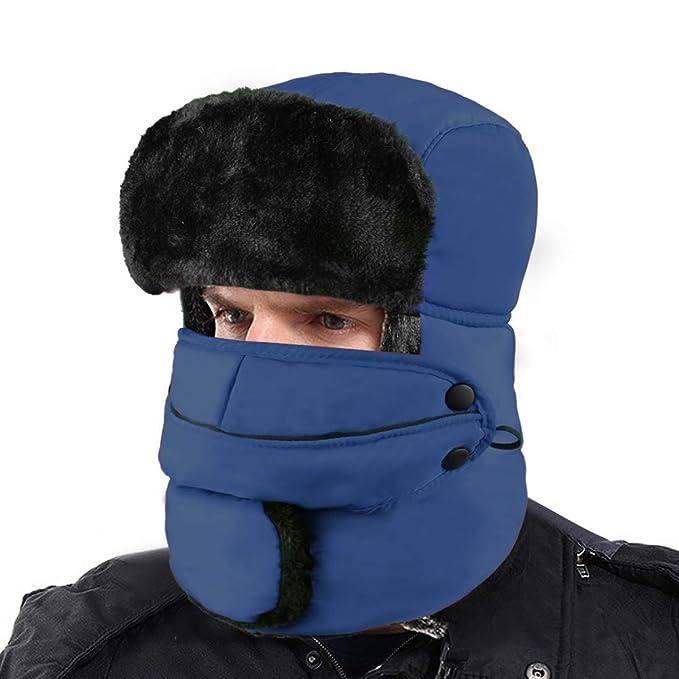 XIAOYAO Cappello Aviatore Impermeabile Anti-Vento Caldo Berretti Invernali  para Uomo e Donna (Marina d6924cd2b2eb