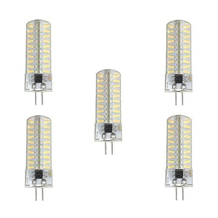 JIALUN-Bombillas Bombillas LED G4 / GY6.35 / G9 LED Luces Bi-pin 5W T 80 SMD 4014 320-350 Lm Blanco cálido / Blanco frío Dimmable AC100-130V 5PCS (Color ...