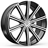 "Kronik EPIQ 404 Gloss Black/Machined Wheel with Machined Finish (22x8.5""/5x115mm)"