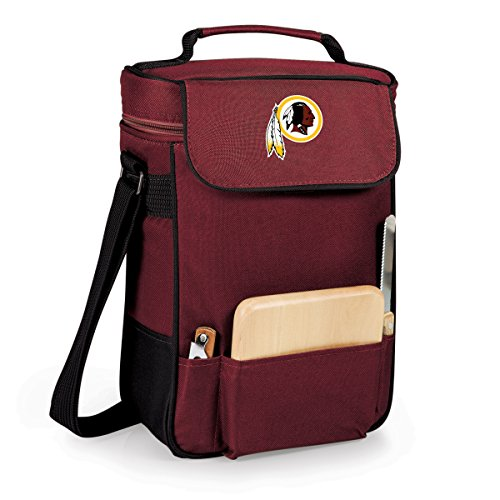 NFL Washington Redskins Duet Insulated 2-Bottle Wine and Cheese Tote, Burgundy