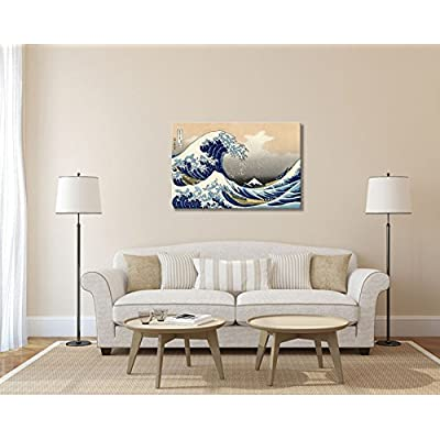 The Great Wave Off Kanagawa by Hokusai - Canvas Print