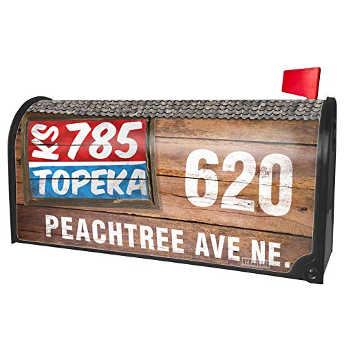 NEONBLOND Custom Mailbox Cover 785 Topeka, KS red/Blue -