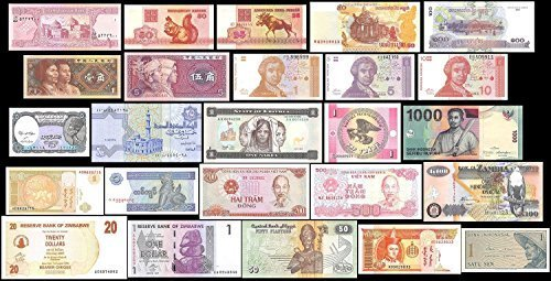 25 Banknotes Different Foreign,Currency, History Rare - Long time worth Suitable for collector