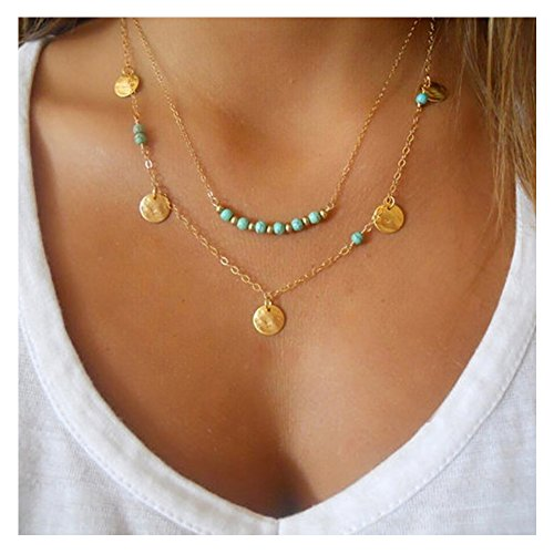 Fancymix Multilayer Exquisite Necklace Turquoise product image