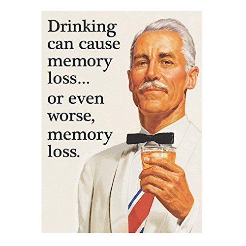 Pritties Accessories Retro Humour Drinking Can Cause Memory Loss Refrigerator Magnet Metal Novelty Funny Gift