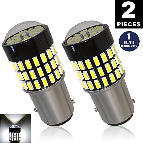 1157 Led 12v Bulb (LUYED 2 x 900 Lumens Super Bright 1157 3014 78-EX Chipsets 1157 2057 2357 7528 LED Bulbs Used For Turn Signal Lights,Tail Lights,Xenon White)