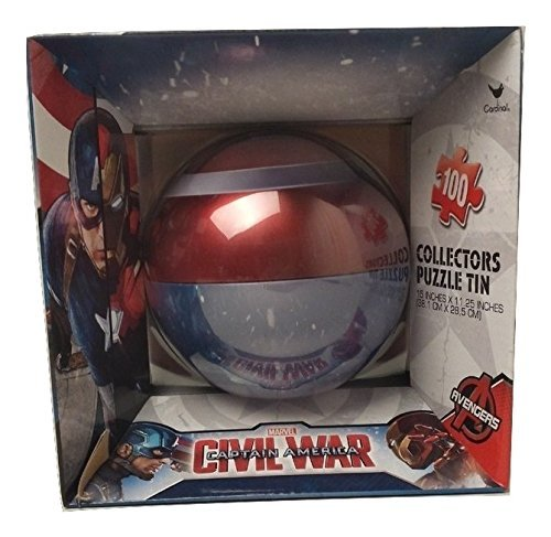 NEW Hot SELLER Toddler Kids Teens Christmas Holiday Captain Ameria Civil War POKE BALL PUZZLE TIN (Homemade Kids' Tin Man Costume)