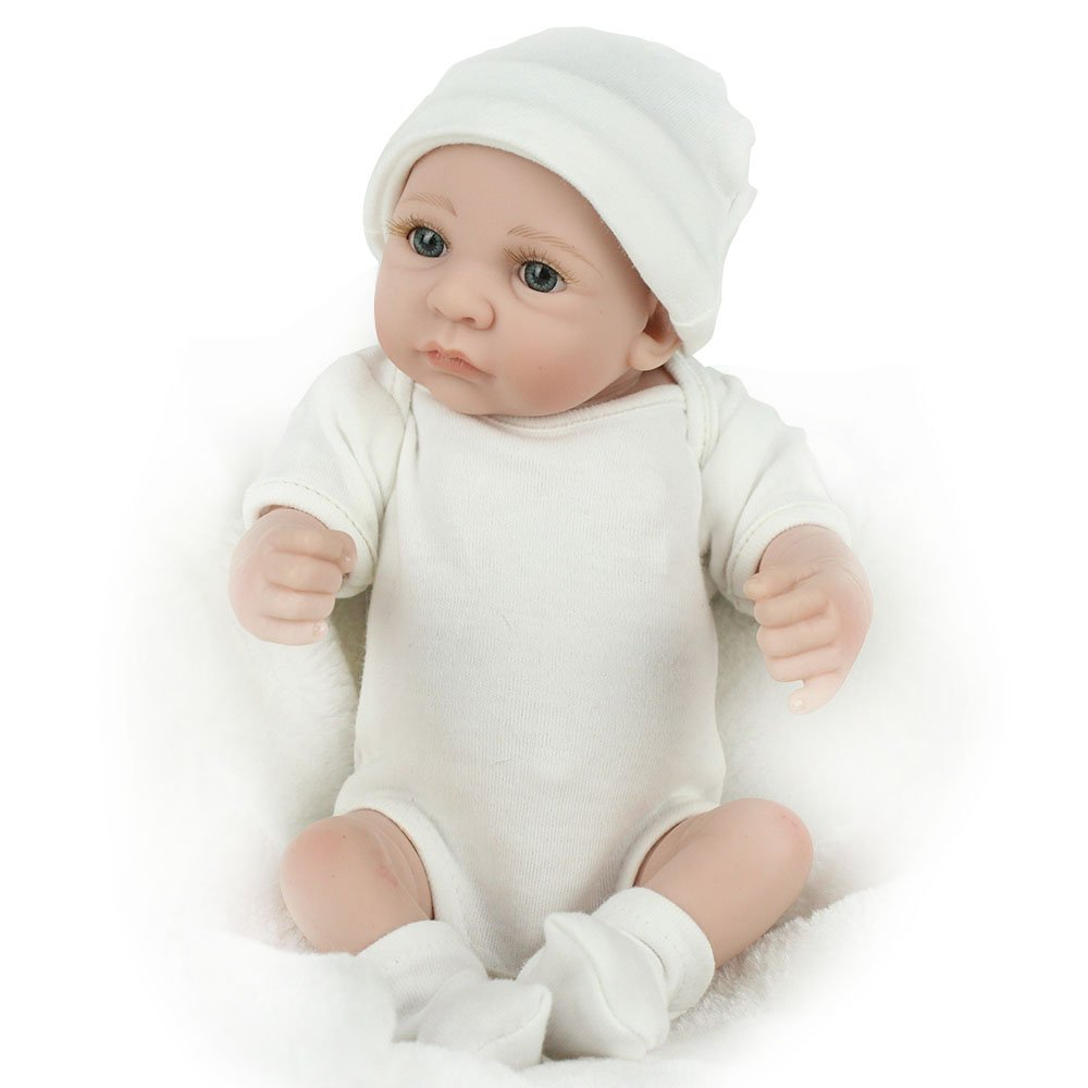 KAYDORA 10 inches Mini Full Silicone Reborn Baby Boy Dolls Soft Body Play Doll Realistic Toys by KAYDORA