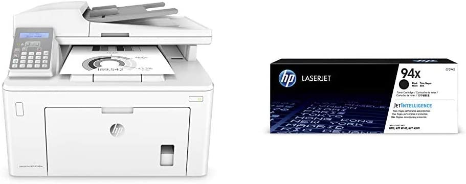 HP Laserjet Pro M148fdw All-in-One Wireless Monochrome Laser Printer, Amazon Dash Replenishment Ready with Fax, Mobile & Auto Two-Sided Printing (4PA42A) with High Yield Black-Toner-Cartridge