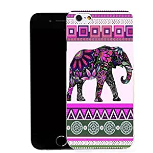 """New Hard Patterned Motif Case iphone 6 4.7"""" - pink elephant Design & Capacitive Stylus by ruishername"""