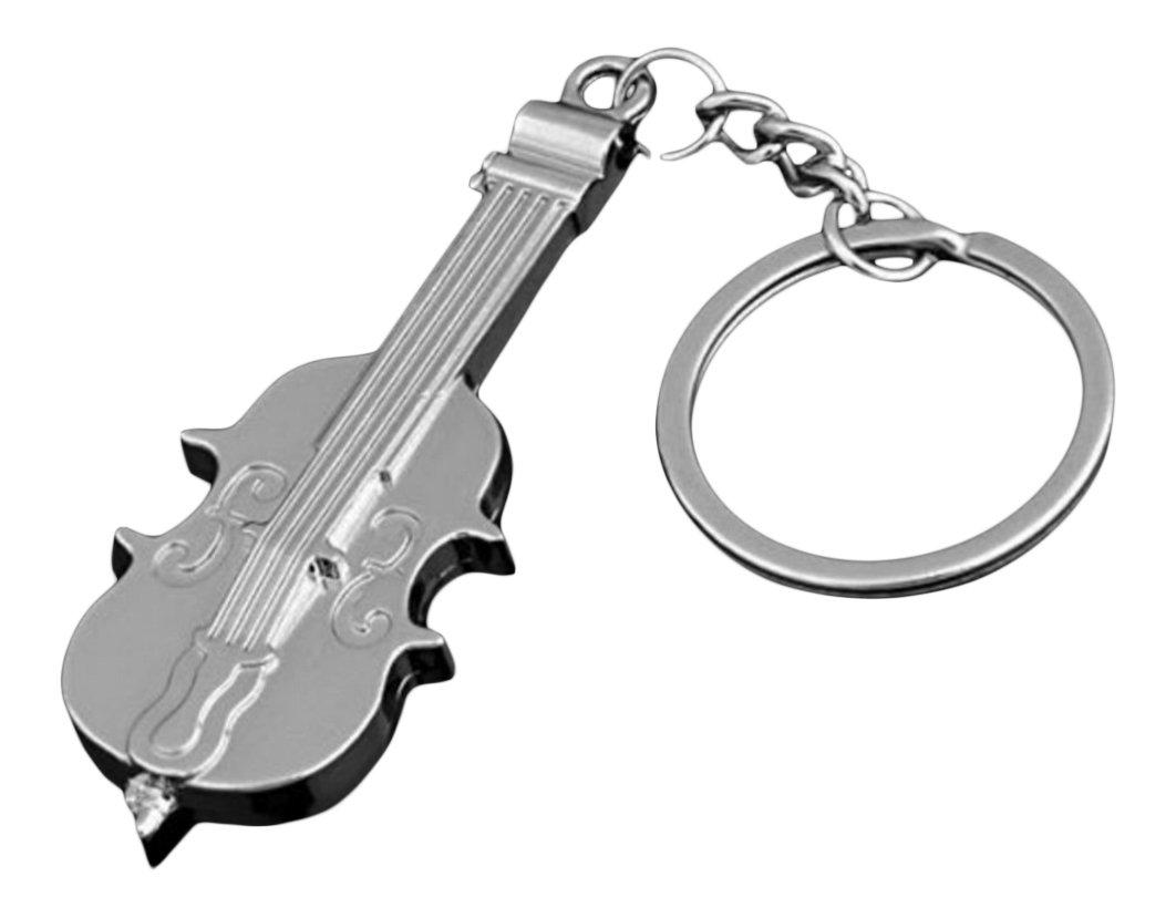 Joyas, plata, llavero-violín de acero inoxidable.: Amazon.es ...