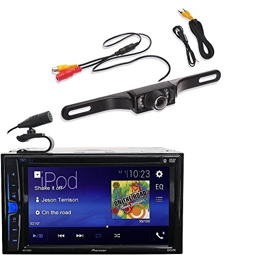 Pioneer AVH-200EX Car 6.2'' LCD USB DVD Bluetooth Stereo FREE License Plate Camera by CACHE, PIONEER