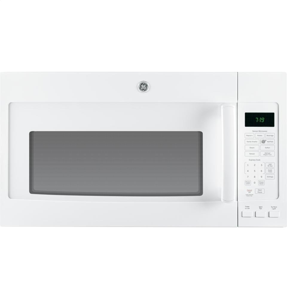GE JVM7195DFWW 1.9 Cu. Ft. White Over-the-Range Microwave