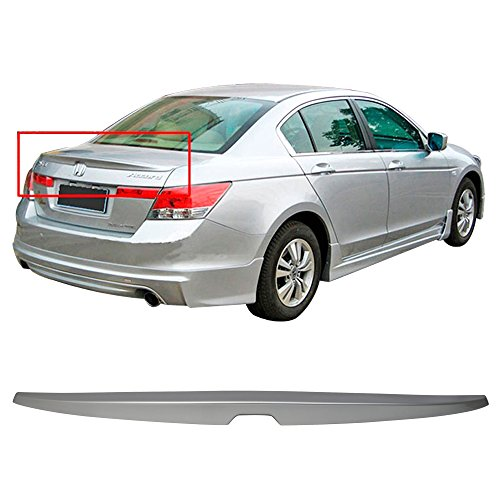 Pre-painted Trunk Spoiler Fits 2008-2012 Honda Accord | OE Style ABS Painted Alabaster Silver Metallic #NH700M Trunk Boot Lip Wing Deck Lid Other Color Available By IKON MOTORSPORTS | 2009 2010 2011