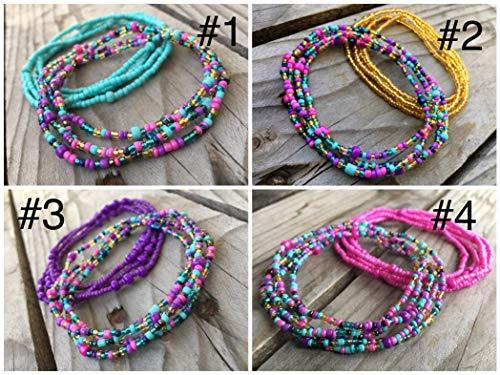 Amazon Com 2 Piece Waist Beads Set Belly Bead Choose Color Waist Bead African Waist Beads Body Chain Beaded Belly Chain Waist Chain Stretchy Elastic String Summer Jewelry Bikini Jewelry Handmade