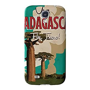 Madagascar Full Wrap High Quality 3D Printed Case for Samsung? Galaxy S4 by Nick Greenaway + FREE Crystal Clear Screen Protector