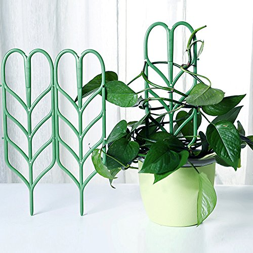 Aniann Garden Trellis for Mini Climbing Plants, Leaf Shape Potted Plant Support Vines Vegetables Vining Flowers Patio Climbing Trellises for Ivy Roses Cucumbers Clematis Pots Supports (6 Pack) by Aniann (Image #1)