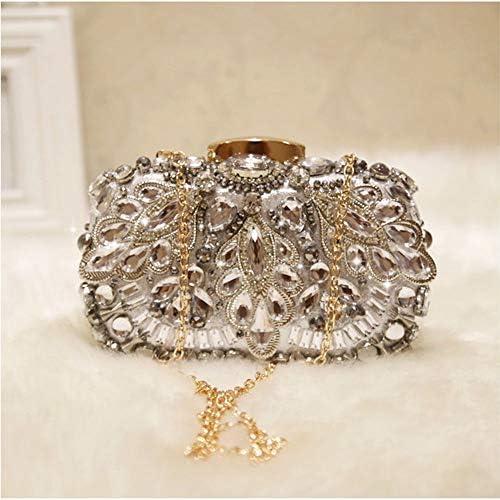 ハンドバッグ - クラッチディナー、斜めのパッケージ、小さな正方形のパッケージの新しいチェーン、クリスマスプレゼント手作りのダイヤモンドのファッションチェーンショルダーハンドバッグ よくできた