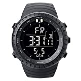 OTS Men Multifunctional Sports Digital Electronic Wrist Watch, LED Screen Watch and Waterproof Casual Luminous Stopwatch Alarm Watch