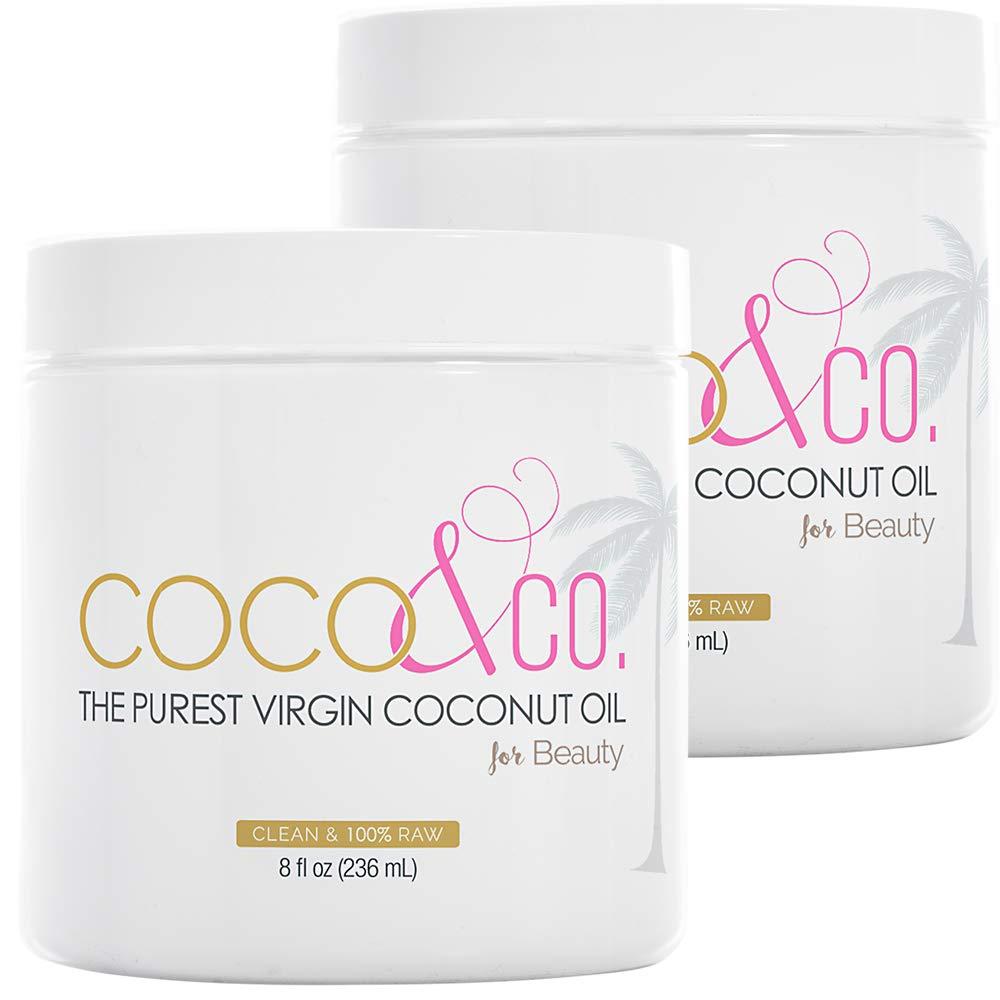 Amazon Com Coco Co Organic Pure Extra Virgin Coconut Oil For Hair Skin Beauty Grade 2 Pack Beauty