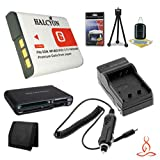 Halcyon 1400 mAH Lithium Ion Replacement NP-BG1 Battery and Charger Kit + Memory Card Wallet + Multi Card USB Reader + Deluxe Starter Kit for Sony Cyber-shot DSC-H9, 8.1 Megapixel, 15x Optical/2x Digital Zoom, Digital Camera and Sony NP-BG1