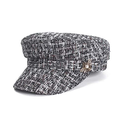 Lengua Plana Plegable Negro E Chico Owaxhwd Pato De Cálido Fragancia plegable Pequeña Otoño 10 Sombreros Periódico ajustable Sombrero Top Invierno Mujer Lengua ZTqwg7Wqz
