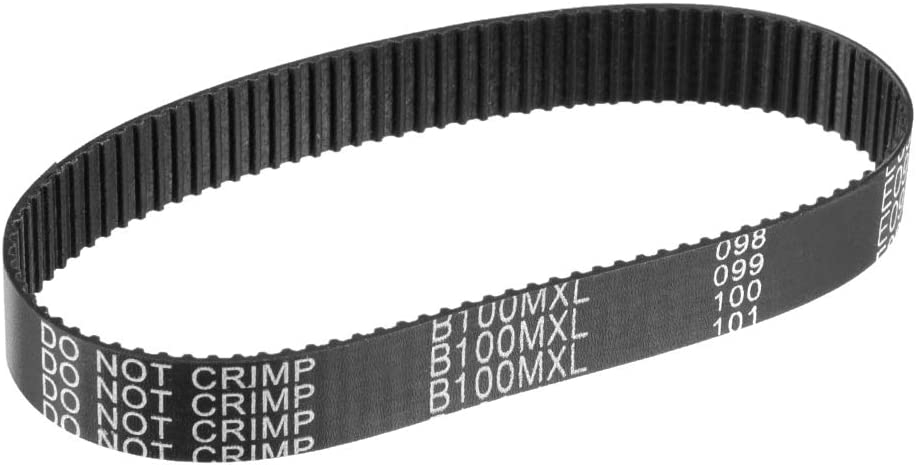 uxcell B100MXL//80MXL Rubber Timing Belt Synchronous Closed Loop Belt Timing Pulley Tools 10mm Width