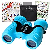 BESPIN Binoculars for Kids 8x21 Bird Watching, High-Resolution Real Optics for Wildlife Watching with Reversible Bird Map