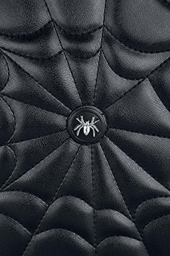 Spider Apparel Rockabilly Shoulder Round Gothic Malice Banned Web Bag Ixwzqd0R