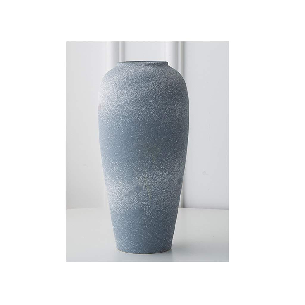 中国の古典的なセラミック陶器花瓶リビングルームフラワーアレンジメント装飾粘土ポット QYSZYG (サイズ さいず : High28CM) B07RDJNS1S  High28CM