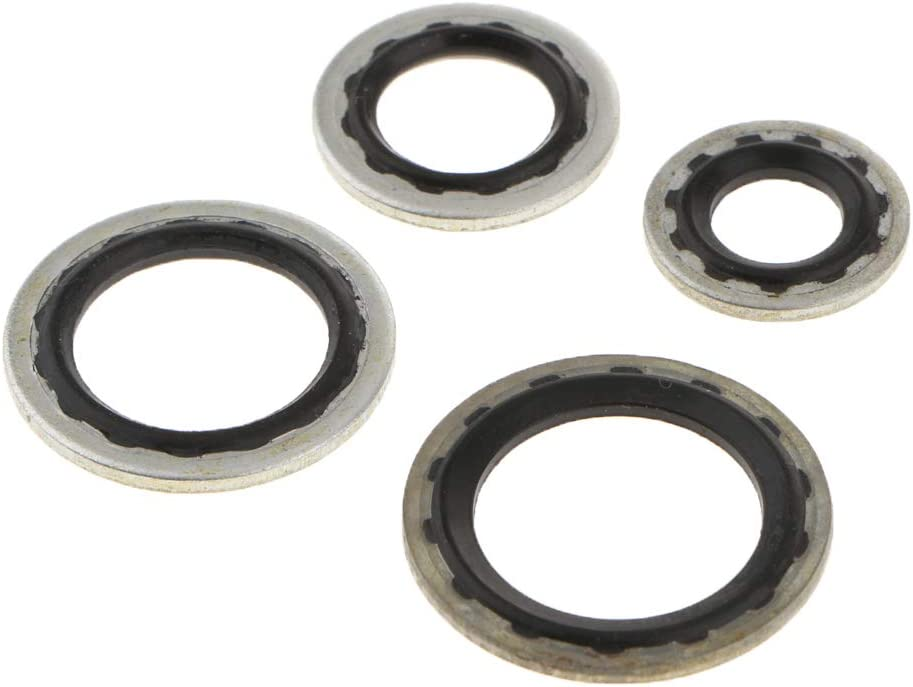 20Pcs A//C Gasket Assortment Air Conditioning Compressor Port Seal Washer Kit for Buick Sail Excelle Opel