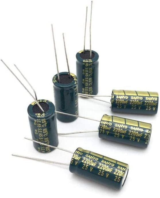 10 pcs condensateur /électrolytique en Aluminium 2200 uF 25 V 10 20 mm frekuensi tinggi Radial /électrolytique kapasitor