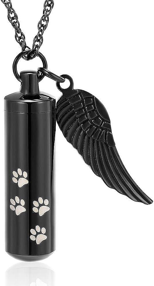 Ashes Funerals Pet Urn Memorial Birthstone Angel Cremation Urn Keychain Or Necklace