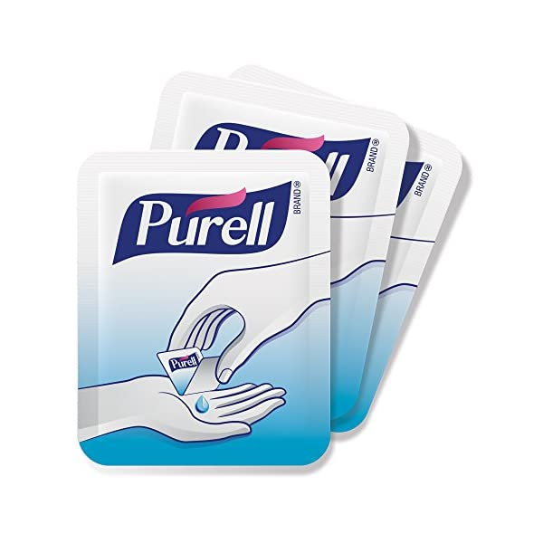 PURELL Advanced Hand Sanitizer Singles Travel Size Single Use Individual Portable Packets 125 Count Self Dispensing Packets In A Display Box 9620 12 125EC