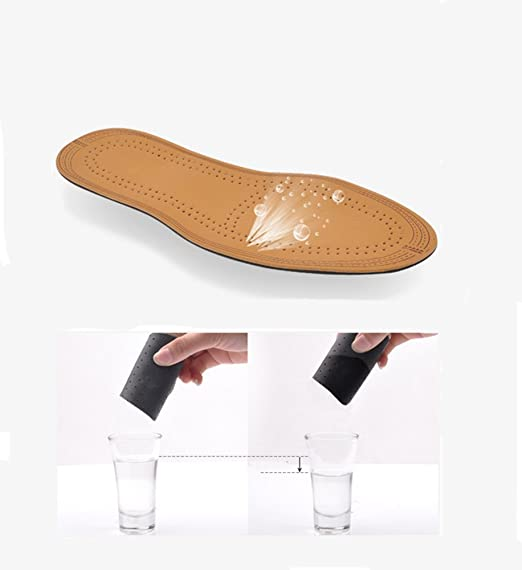 Amazon.com: Flee Adjusting Leather Insole Breathable for Flat Foot Pain  Relief Solution for Sweaty Feet (Women 5-8.5): Kitchen & Dining