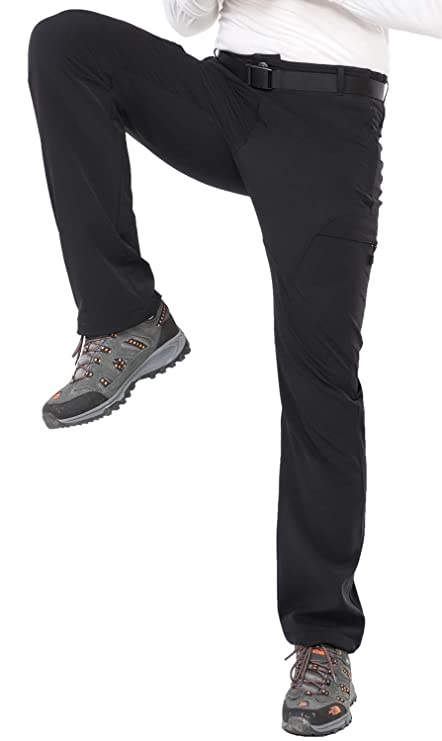 ac734576677be7 MIER Men's Stretchy Hiking Pants Durable Nylon Tactical Cargo Pants with  Elastic Waist, 5 Zipper