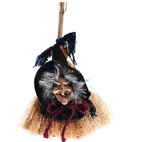 Morrenz - New Hanging Broomstick Witch Door Pendant Garden Living Room Ornament Halloween Party Decoration -