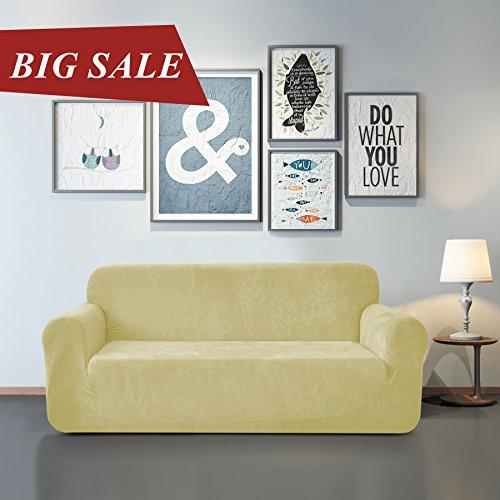 Chun Yi Microfiber Sofa Covers 1 Piece Polyester Spandex