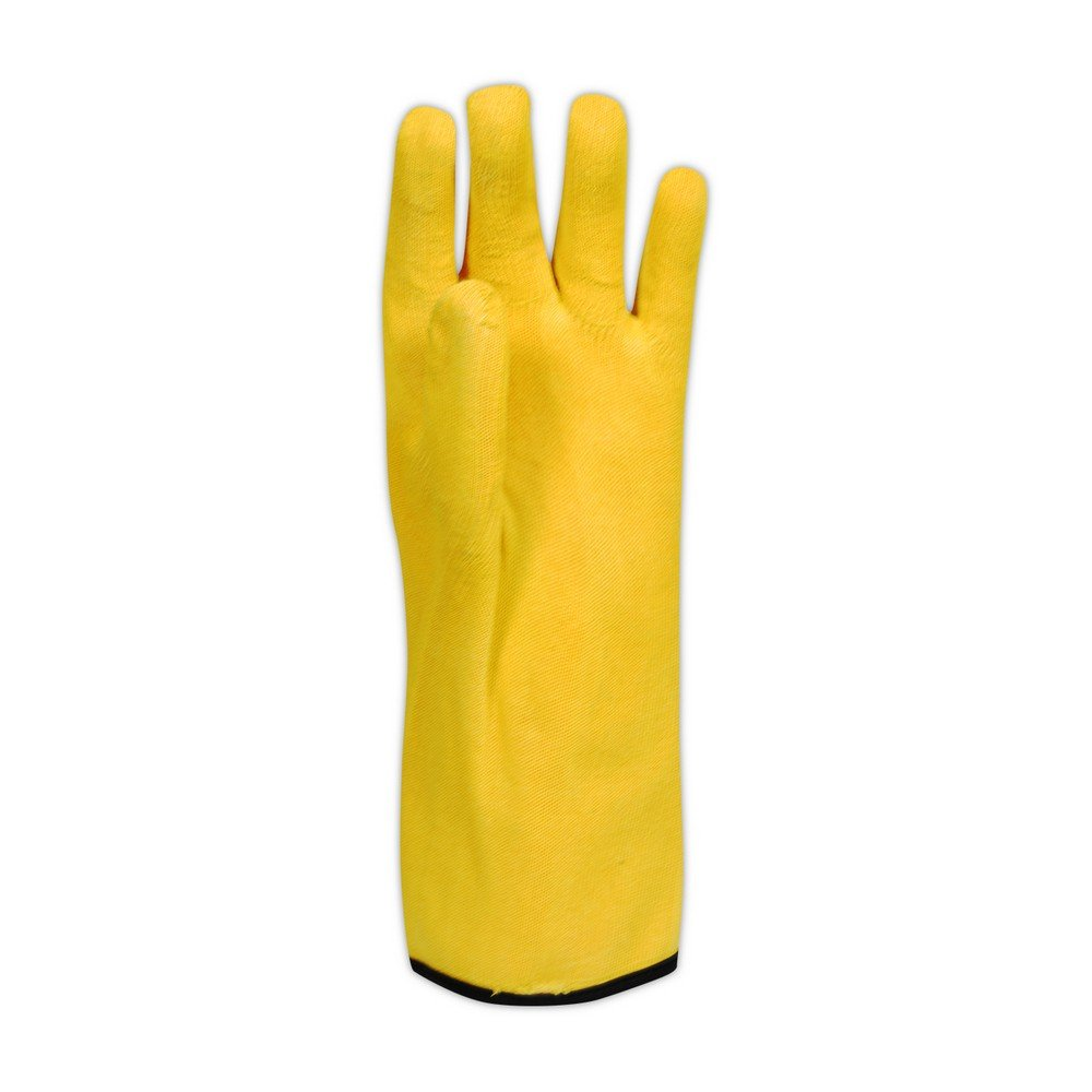 Magid Glove & Safety 7035CC Magid Comfort Flex Chemical Resistant Nitrile Glove w/ Cut Resistant Shell Cut Level 3, 10, Orange , 10 (Pack of 12)