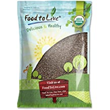 Food to Live Certified Organic Chia Seeds (Raw, Black, Non-GMO, Kosher, Bulk) (10 Pounds)