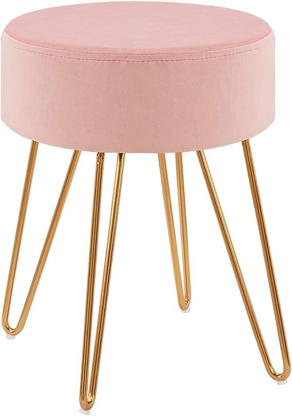 Samt-Sitzhocker Polsterhocker Samt Sitz rosa Türkis /& Braun Schminkhocker Stoff