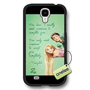 Cartoon Movie Disney Tangled Princess Rapunzel Frosted Phone Case & Cover for Samsung Galaxy S4 - Black