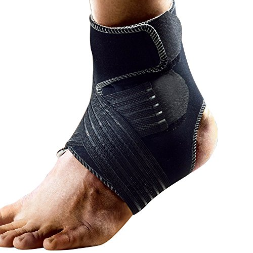 Dr.qiiwi Ankle Brace Compression Ankle Support Foot Stabilizer with Breathable Ankle Sleeve and Adjustable Straps for Sports Protection, Injury Recovery, Reduce Swelling, Ankle Strain & Sprains (M)